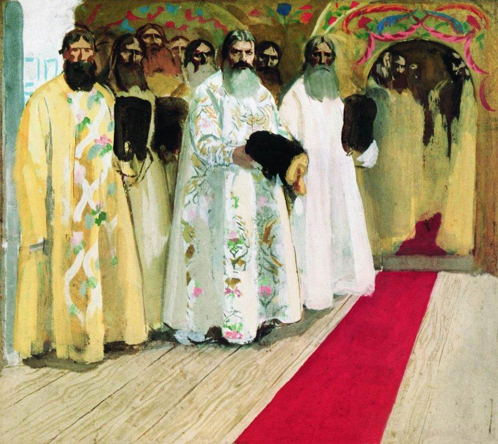 03-Андрей Рябушкин. Ожидают выхода царя. 1901