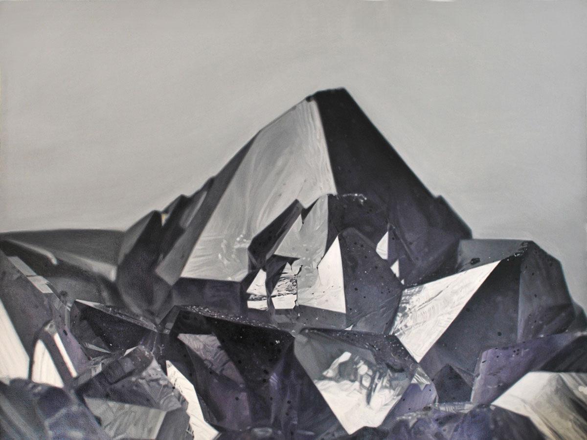 Amethyst Mountain III . 16 x 13?. Oil on panel. 2014