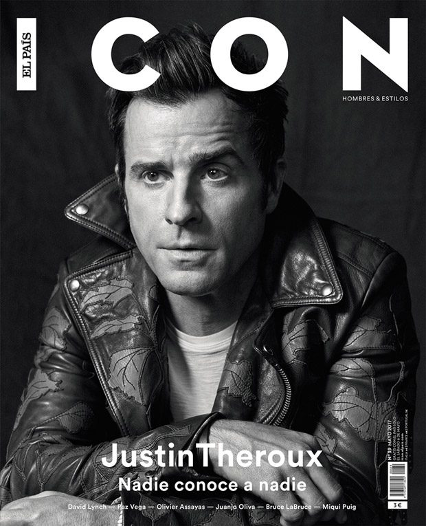 Justin Theroux Stars in the Cover Story of Icon Magazine May 2017 Issue