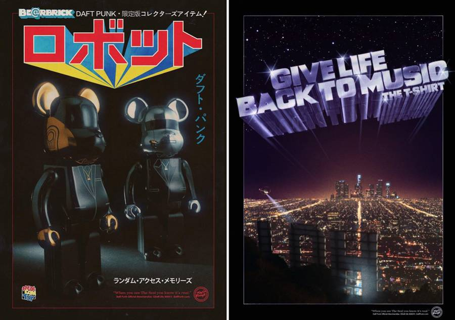 Retro Daft Punk Posters to Promote Objects (12 pics)