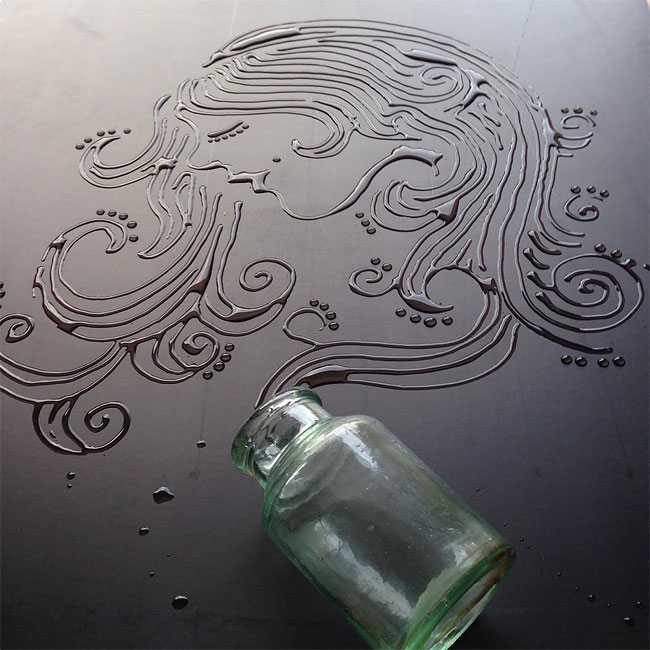 Stunning Artworks Made from Liquids