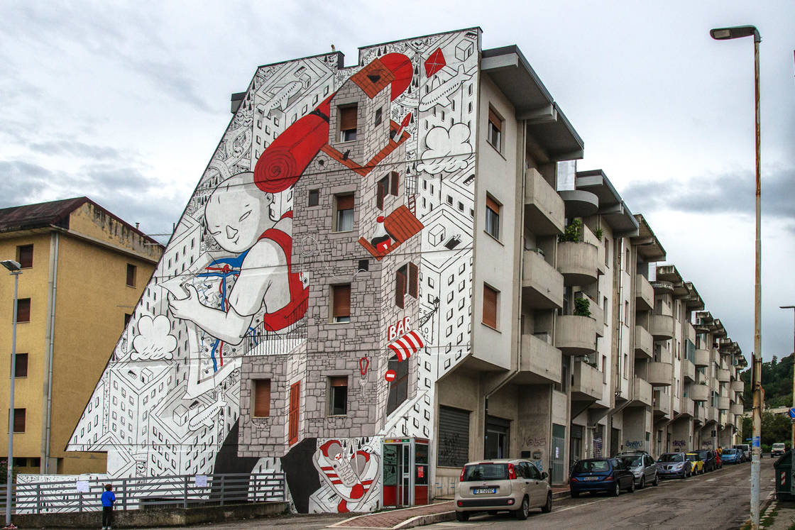 Power of imagination - The latest street art creations from Millo