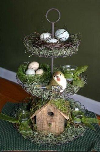 Пасхальный декор: птичьи гнёзда