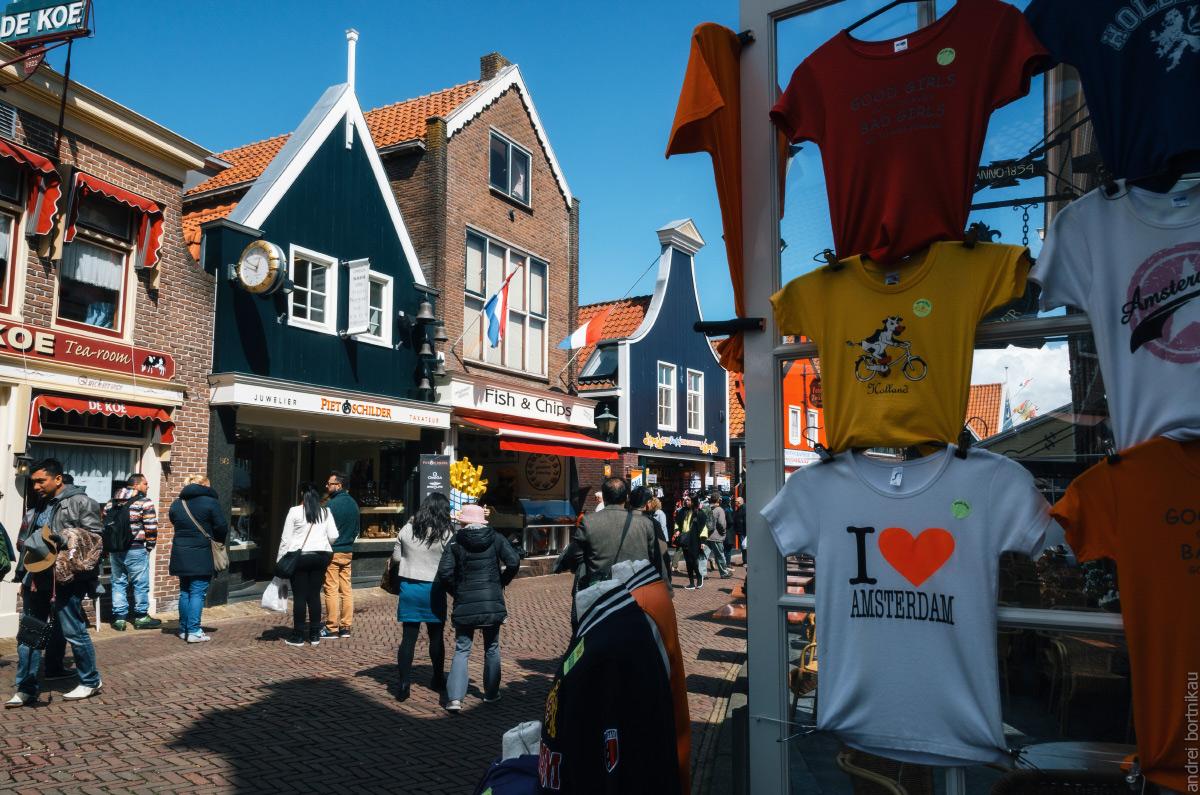 Рыбацкая деревня Волендам, Нидерланды