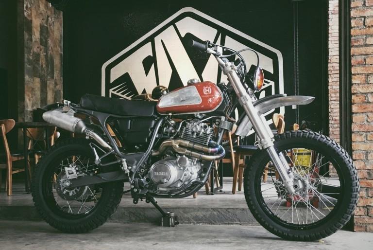 TNT Custom: скрэмблер Yamaha XT600
