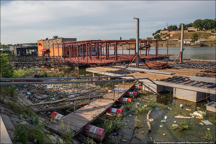 Берег Дуная в Белграде