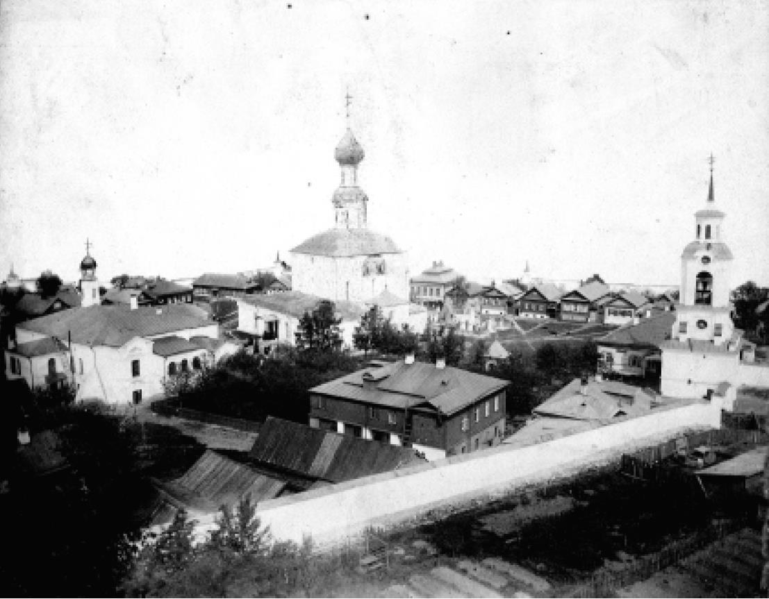Успенский Княгинин девичий монастырь. Юго-западная панорама. Конец XIX в.