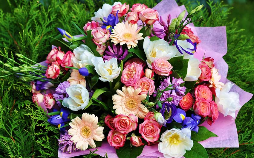 Цветы Букеты Фото Обои работоспособный стол