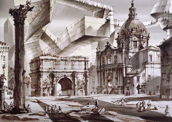 сергей чобан, архитектурная фантазия, римский форум, 2013.jpg