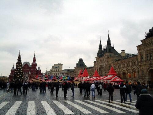 г Москва. ГУМ и каток на Красной Площади