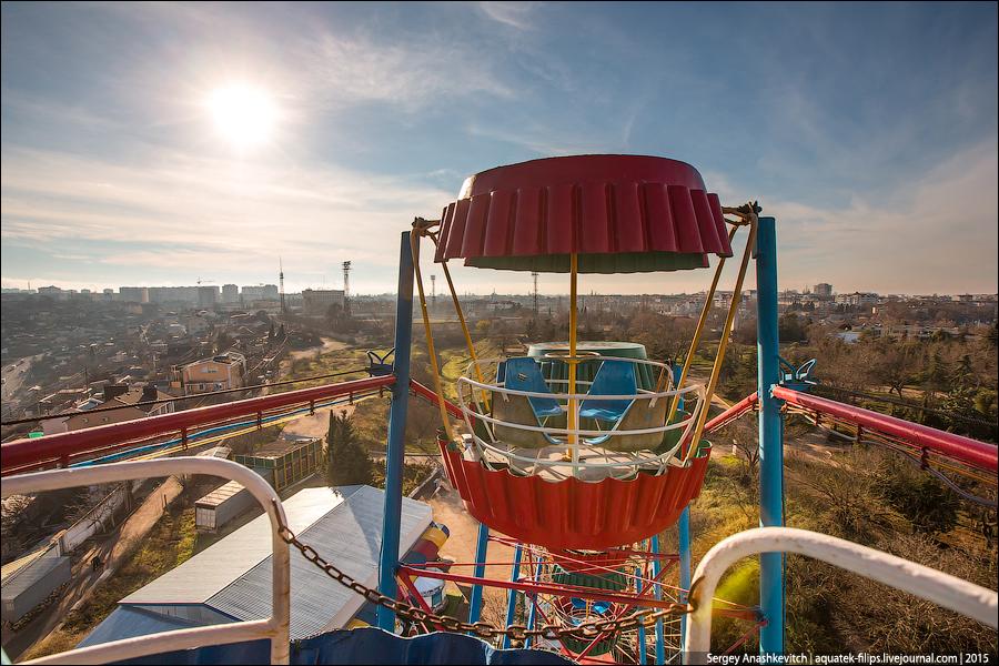 Парк развлечений в Севастополе.
