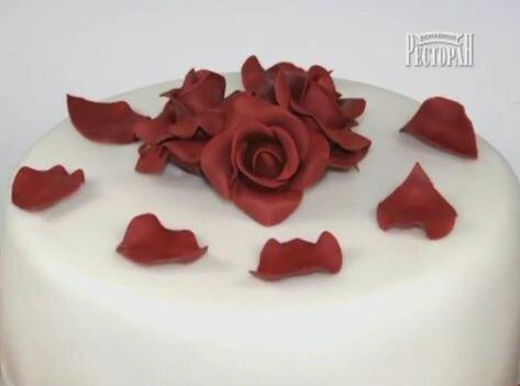Как сделать розу из крема в домашних условиях 4