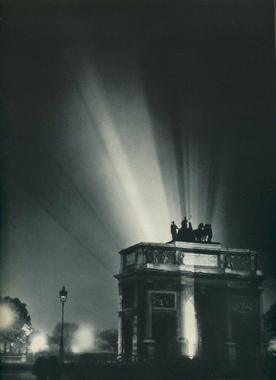 1937. Триумфальная арка ночью