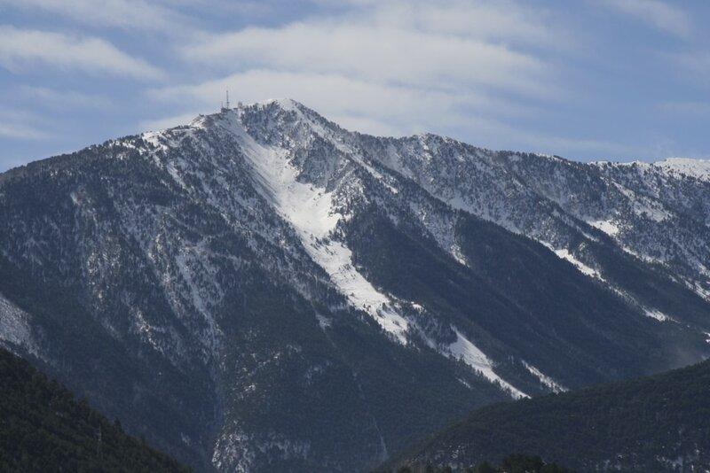 Вид на горнолыжный склон Аркалис