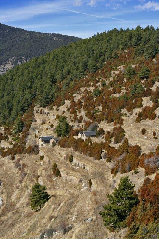 Андорра, деревня в горах