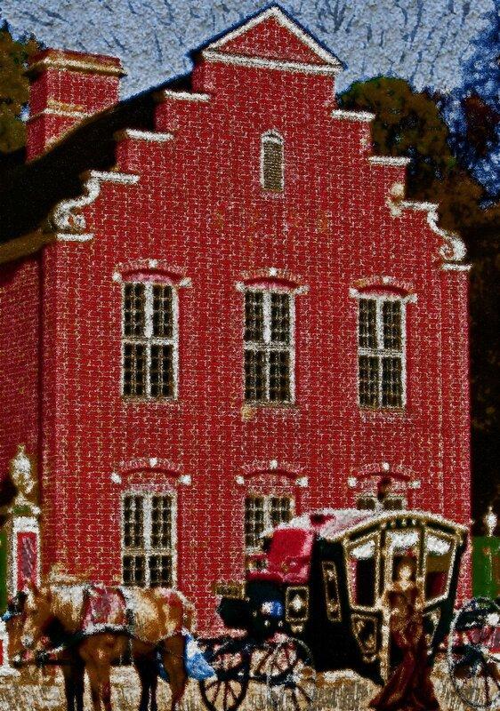 Голландский домик, Кусково. Ретро рисунок, rus, russia, photo, foto, фото, фотки, апарышев, дворец, дом, кусково, кусково малый дворец, лесопарк кусково, москва, музей, парк, усадьба, флигель, шереметьев.