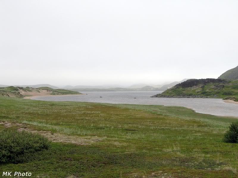 Морской залив на месте ручья