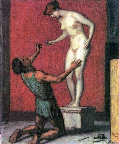 Franz von Stuck  Pygmalion And Galatea  Пигмалион И Галатея