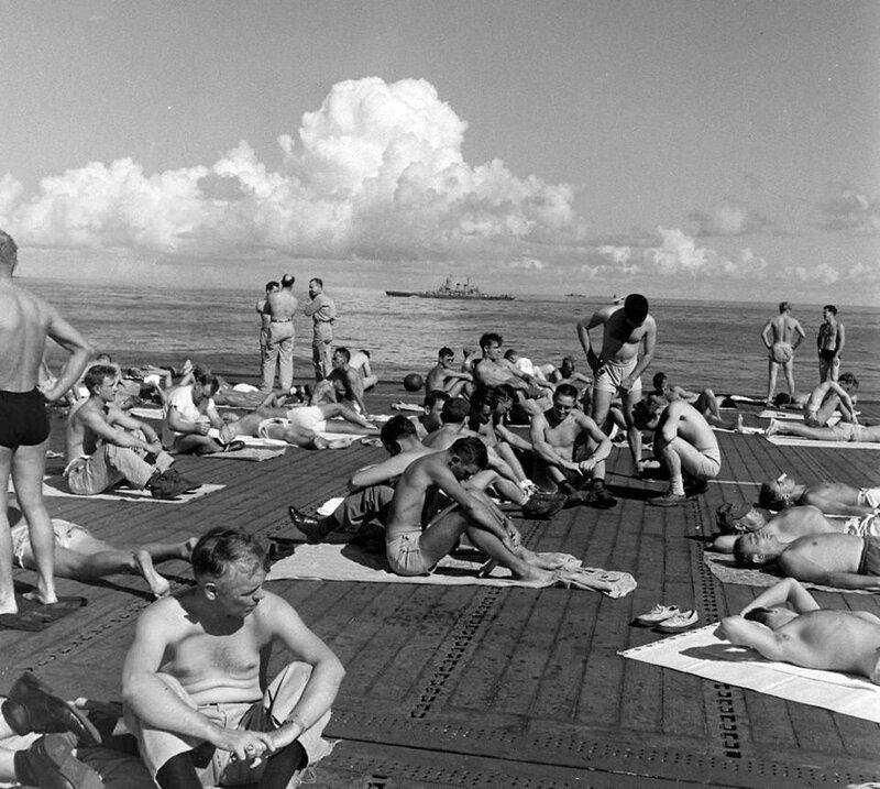 Life aboard the USS Enterprise (CV-6) en route to New York in 1945 - Thomas Mcavoy - LIFE