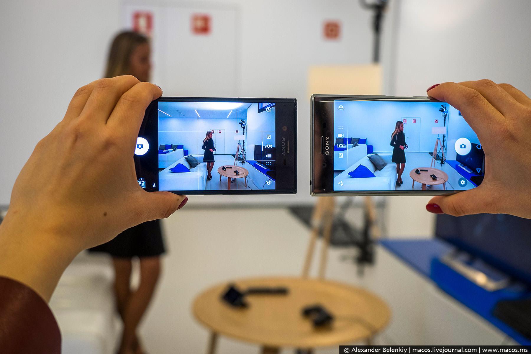 Новая камера не такая широкоугольная, как у «обычного» Xperia XZ.
