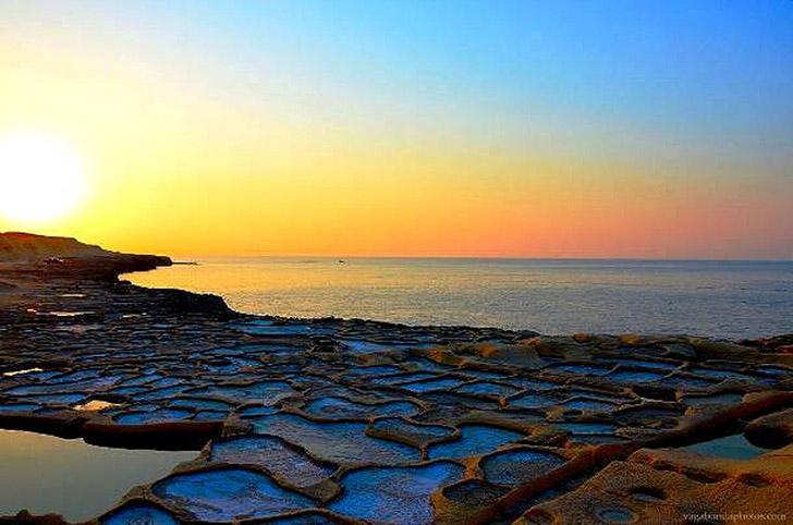 10. Солончаки Марсалфорн. Они находятся на северо-восточном побережье Гоцо, это самый популярный тур