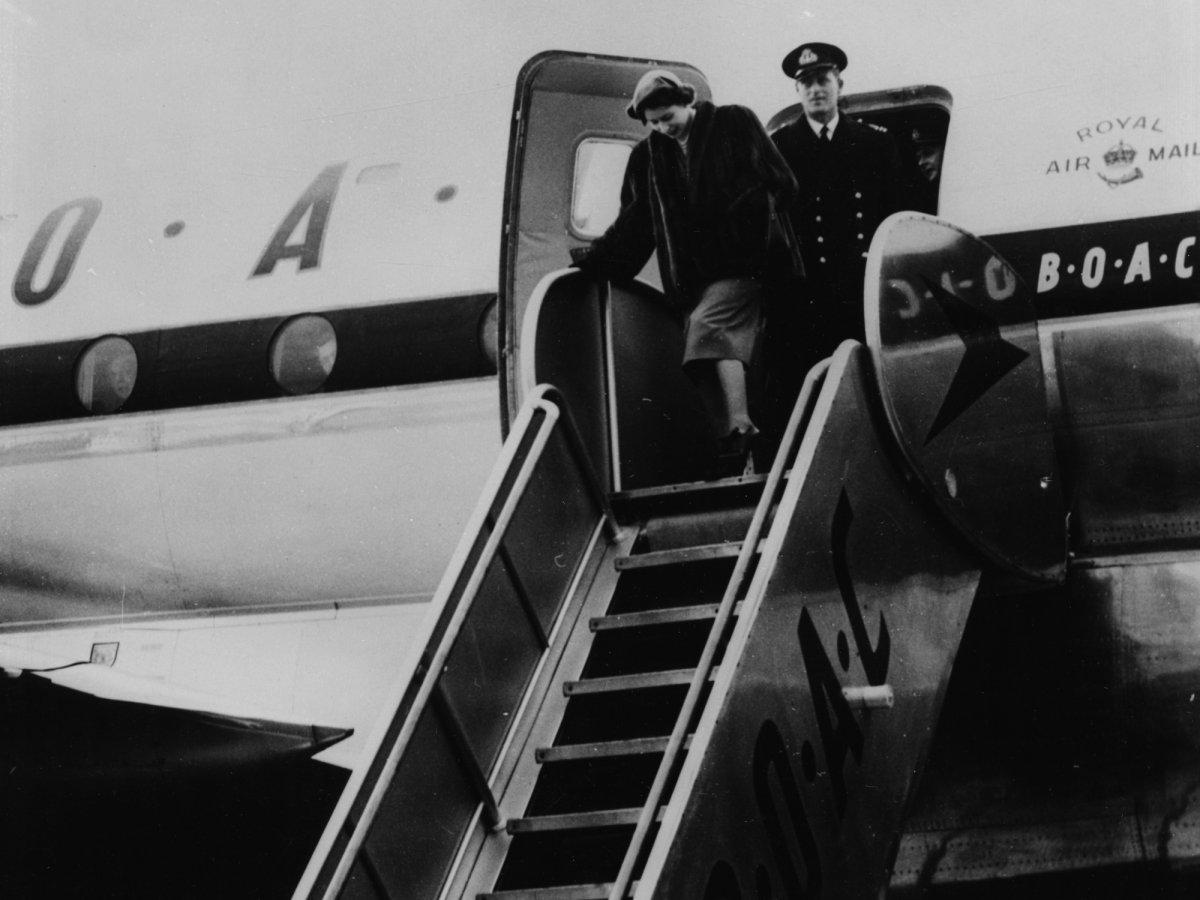 Пара во время королевского тура по Канаде в 1951 году.