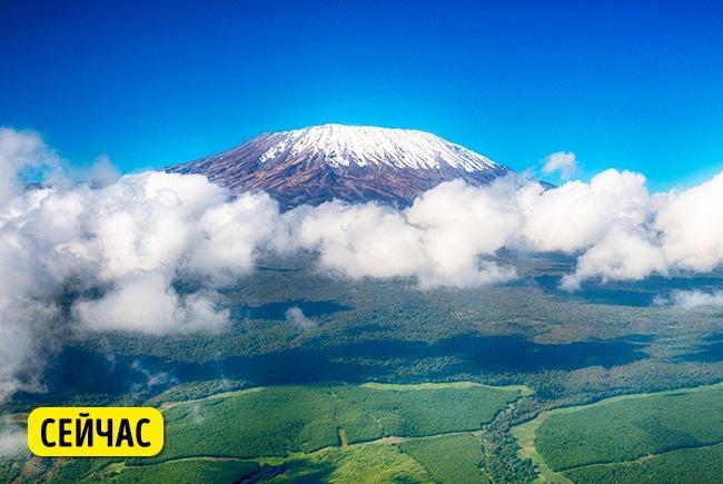 © depositphotos  Вулкан Килиманджаро— самая высокая точка Африки, покрытая снегом. Втечение