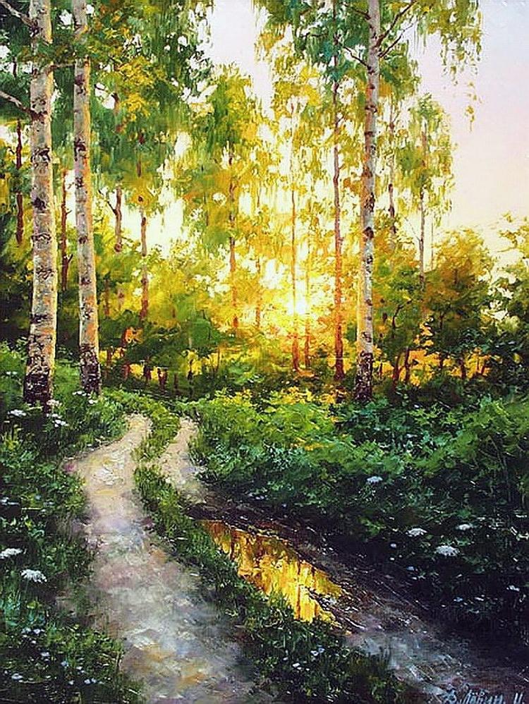 Вдали от суеты: деревенская живопись Дмитрия Лёвина