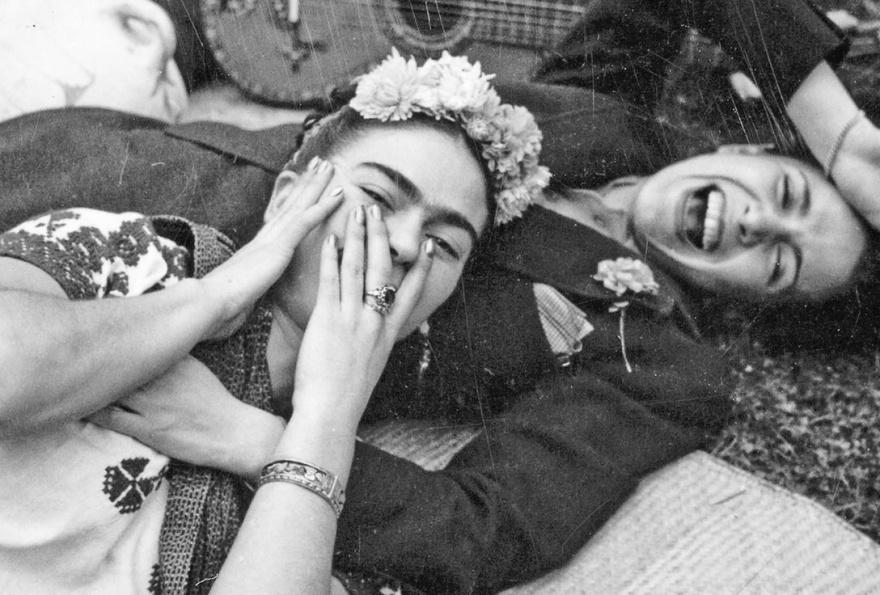 © mariadapenhaneles  Фрида Кало иЧавела Вергас, 1950г.