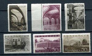 1938 г. Московский метрополитен. Строительство второй очереди.
