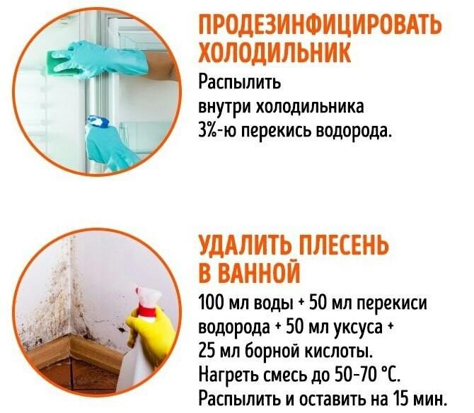 Используем перекись водорода в быту