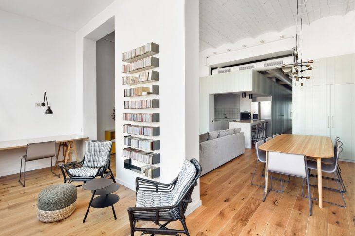 BONBA Studio worked on an interior redesign and re-purposing of a 170 square meter space into a cont