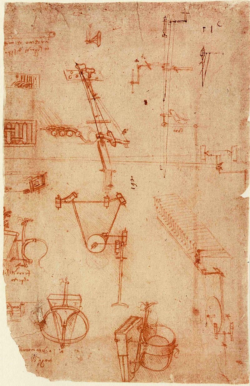 Codex Atlanticus by Leonardo Da Vinci, (page 93r) Buried in the pages of Leonardo Da Vinci's famous