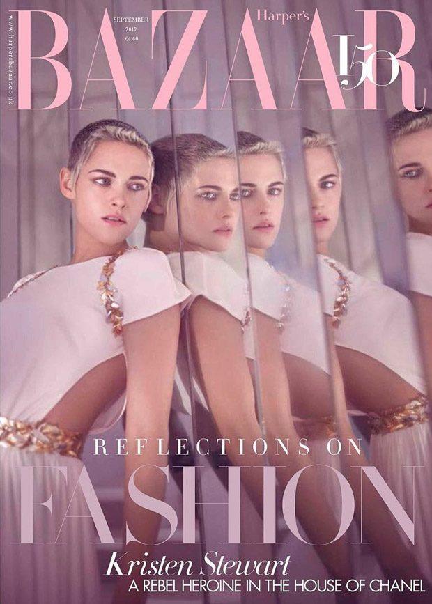 Kristen Stewart Covers British Harper's Bazaar September 2017 Issue (1 pics)