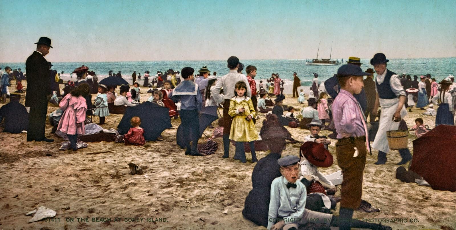 On the beach at Coney Island, ca. 1902.jpg