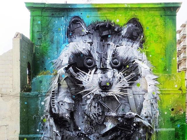 Big Raccoon 3D Street Art