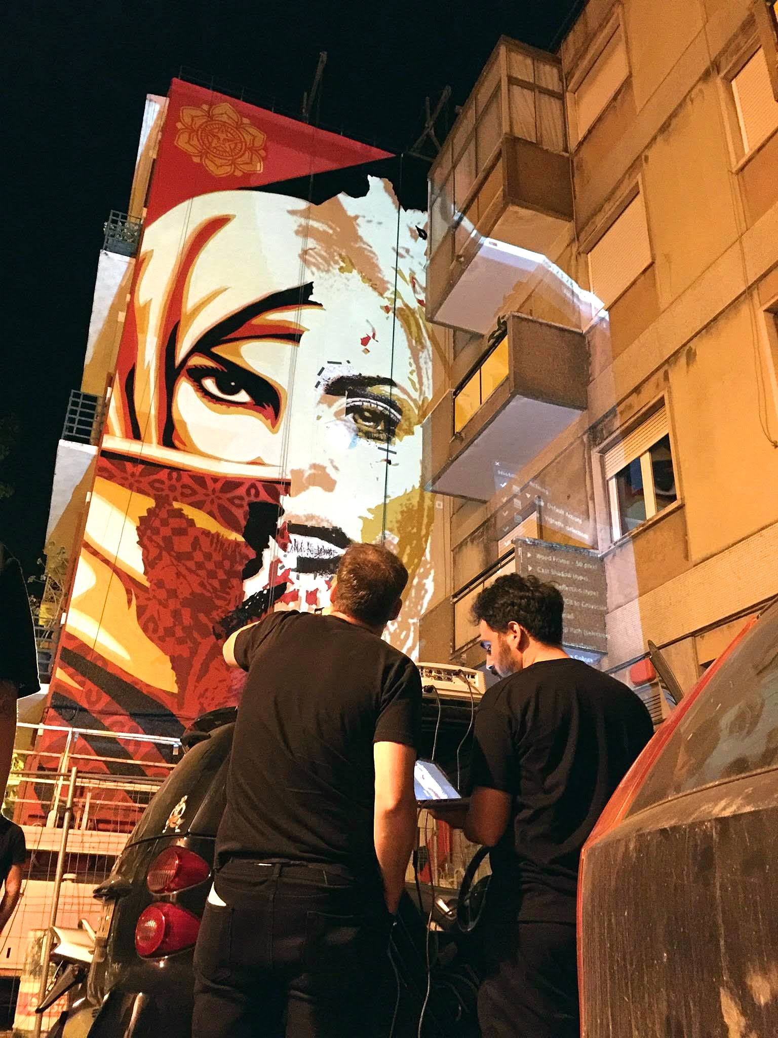 Streets: Shepard Fairey x Vhils (Lisbon) (3 pics)