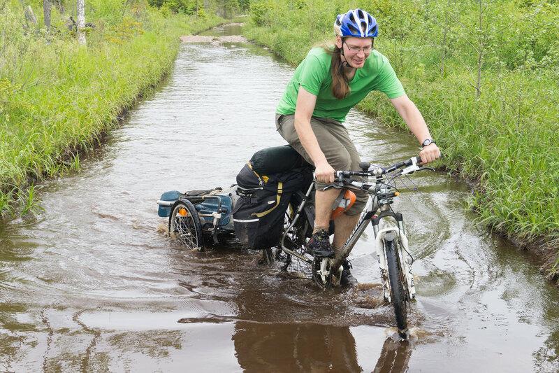 велопоход по карельскому перешейку по лужам