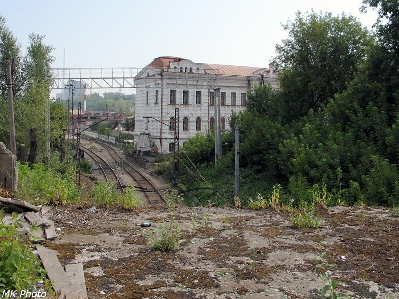 Вид с ул. Орджоникидзе на горловину станции Пермь-I