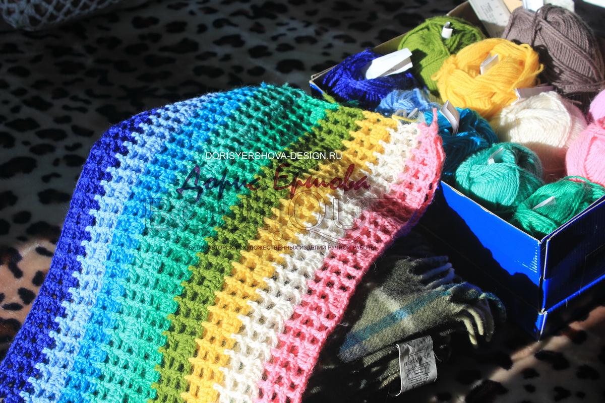 филейное покрывало, сетка, крючок, фото, дизайн Дорис Ершовой