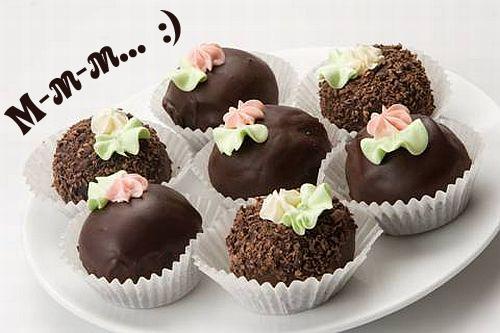 Открытки. С днем шоколада! Шоколадные конфеты-вкусняшки
