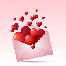 День почты! Сердечки из конверта открытки фото рисунки картинки поздравления