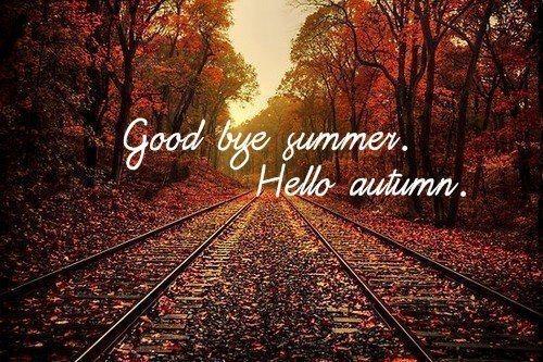 Открытки. Досвидания, лето! Здравствуй, осень!