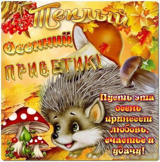 Открытки. Пусть эта осень принесет любовь, счастье и удачу! открытки фото рисунки картинки поздравления
