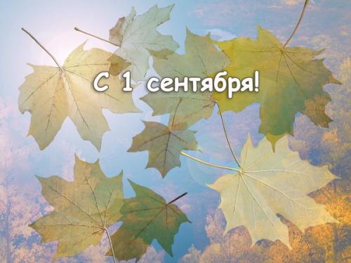Открытки. С 1 сентября! Осень начинается!