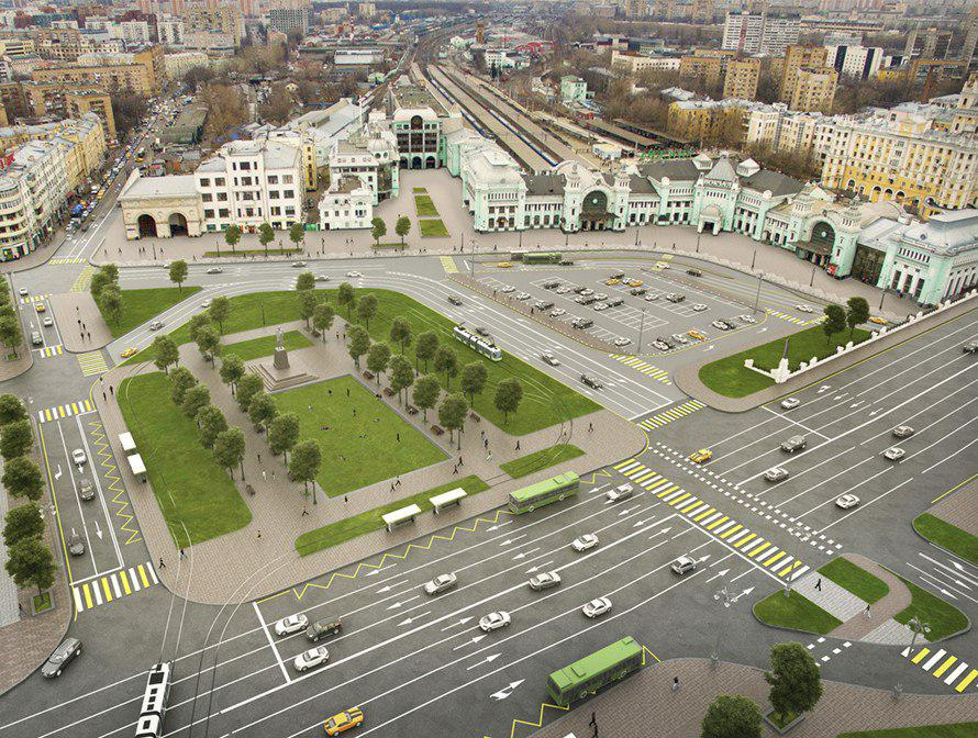 Встолице завершается благоустройство площади Тверской Заставы