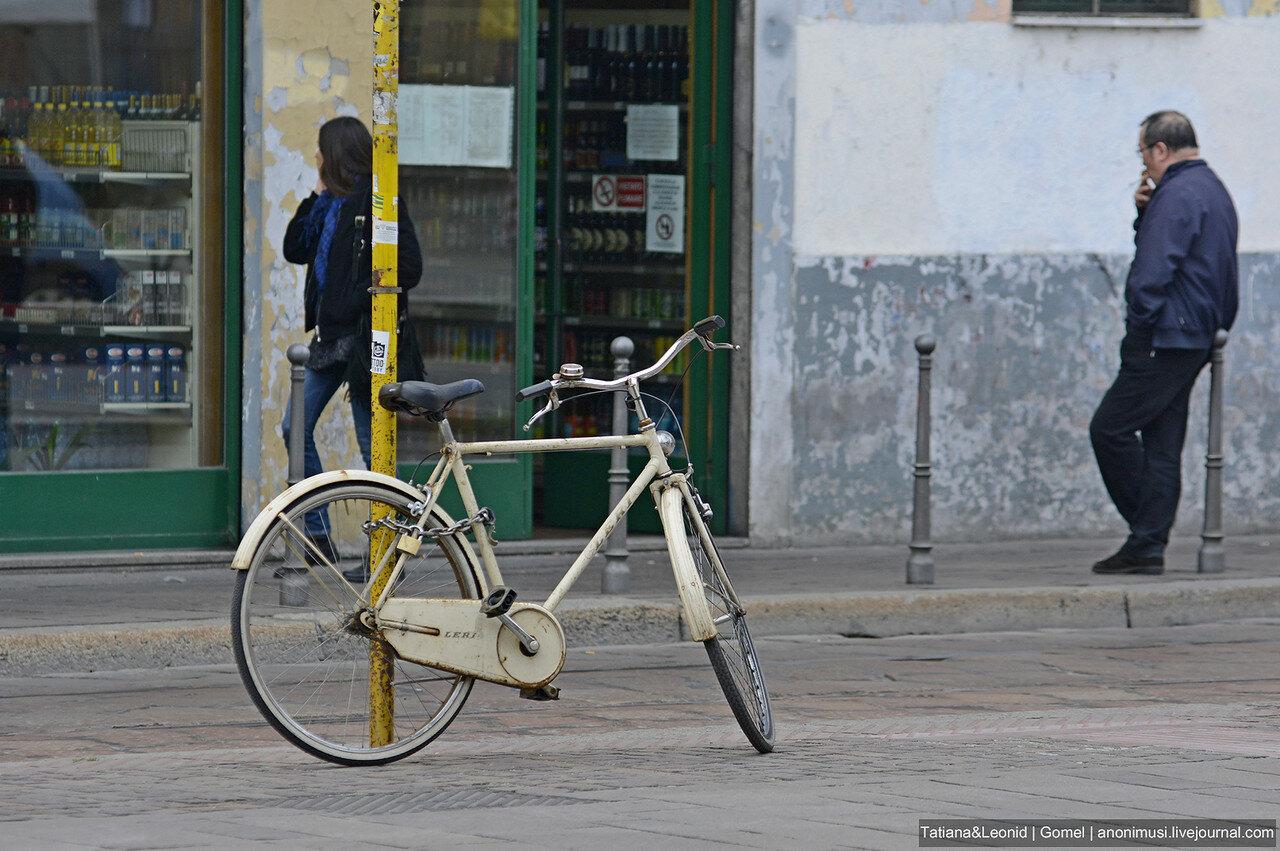 Велосипеды на улицах Милана