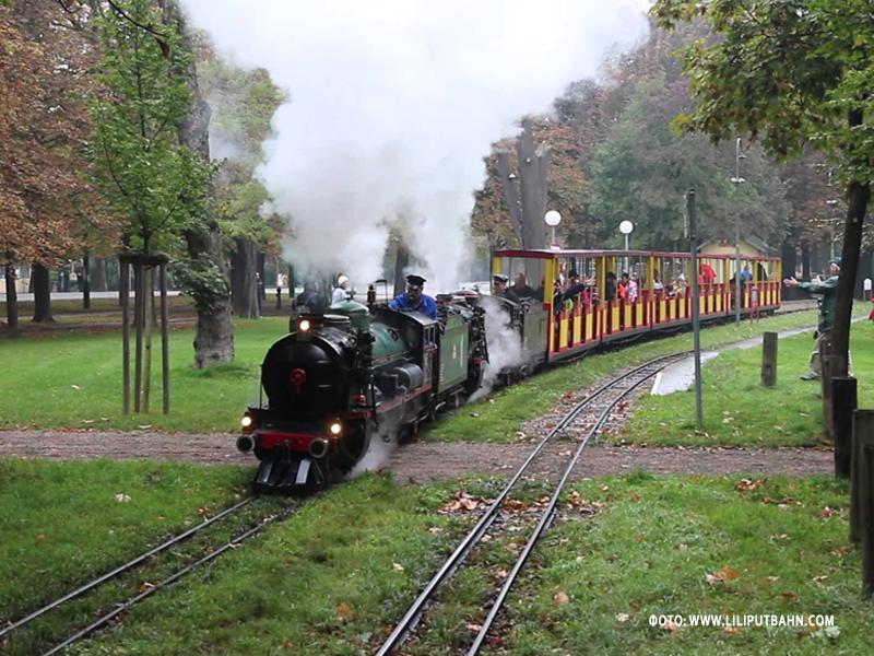 Детская железная дорога Лилипутбан в парке Пратер