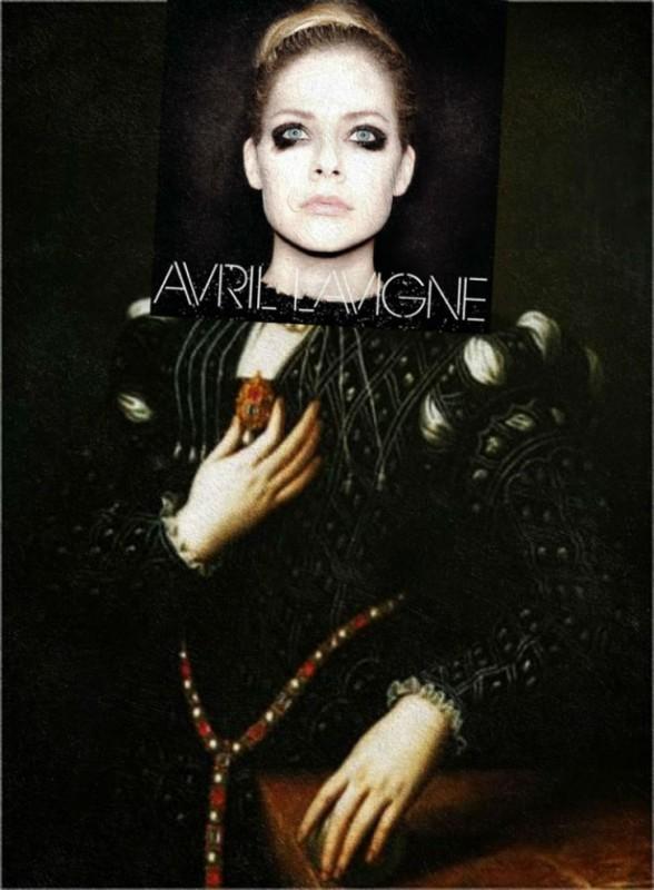 Обложка альбома Аврил Лавин Avril Lavigne и картина Аньоло Бронзино «Лукреция Медичи».