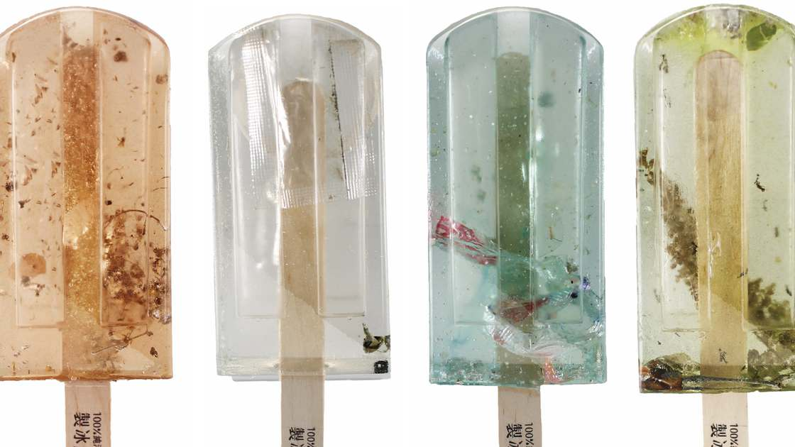 They created popsicles with the polluted waters of Taiwan